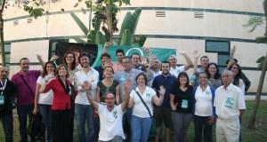 Miembros de la plataforma Costa del Sol Sí Puede, auspiciada por Podemos y Equo, durante el cierre de campaña este viernes en Marbella. Foto/ marbellaconfidencial.es