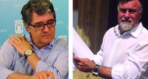 El teniente de alcalde de Marbella Javier Porcuna (PSOE) a la izqda, frente al concejal del PP Baldomero León. Fotos/marbellaconfidencial.es