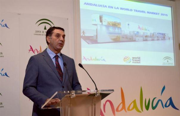 El consejero de Turismo de la Junta, Francisco Javier Fernández, este lunes en Málaga. Foto/ Europa Press/Junta