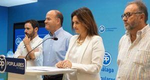 La secretaria general del PP de Málaga, Margarita del Cid, este jueves, presentando la Conferencia Política que arranca este viernes. Foto/ Europa Press