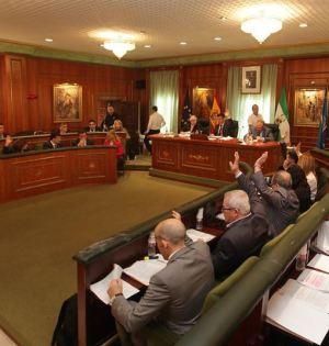 Un momento de la votación en el pleno celebrado este viernes en Marbella. Foto/ Europa Press