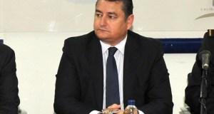 El delegado del Gobierno, Antonio Sanz, este miércoles en Marbella, durante la toma de posesión del nuevo comisario jefe, Enrique Lamelas. Foto/ MARBELLA IMAGEN
