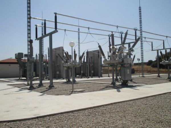 Imagen de una subestación eléctrica de la Costa del Sol