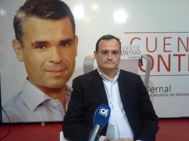 El abogado Jaime Olcina, asesor jurídico del PSOE contratado en el Ayuntamiento de Marbella, durante una entrevista en imagen de archivo. Foto/ Semanario Viva Marbella-Ondaluz TV
