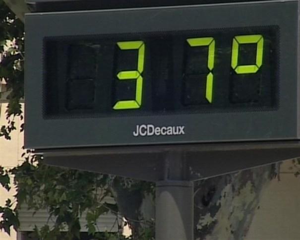 Imagen de un termómetro en la provincia. FOTO/ EP
