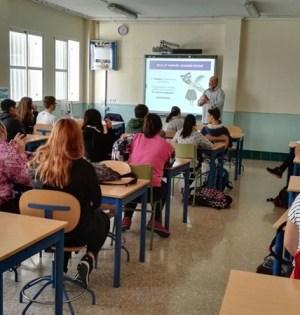 Imagen de un aula escolar en la provincia de Málaga. FOTO/ EP