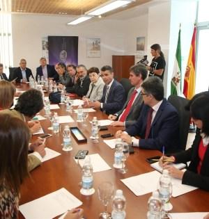 Imagen de la reunión celebrada este viernes en el Andalucía Lab. FOTO/ AYTO