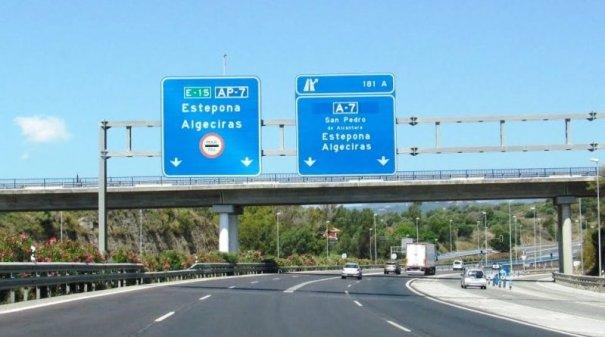 Imagen de la AP7 a su paso por Marbella