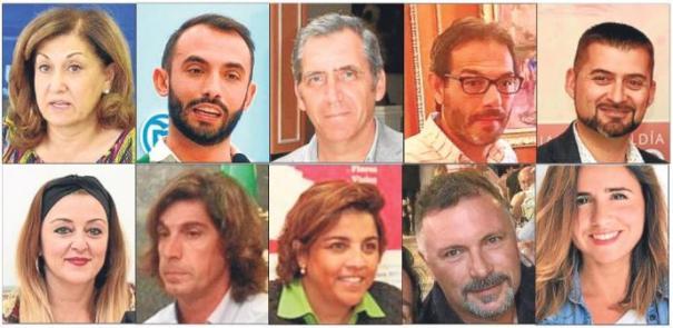 Imágenes de diez de los once directores generales elegidos en el proceso de selección en el Ayuntamiento de Marbella