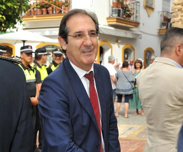 Imagen del fiscal jefe de Área de Marbella, Julio Martínez Carazo, durante la festividad de la Policía Local. FOTO/ JAVIER MARTÍN