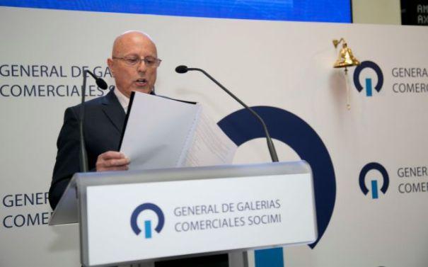 El empresario Tomás Olivo en una imagen de archivo cuando su sociedad General de Galerías Comerciales S.L. salió a bolsa. FOTO/ BME