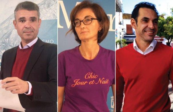 De izquierda a drcha el líder de la oposición y portavoz del PSOE en Marbella, José Bernal; la portavoz de Podemos, Victoria Mendiola y su homólogo de IU, Miguel Díaz. FOTOS/ MC