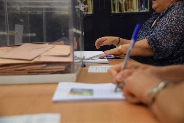 Imagen de urnas este domingo. Foto/ Twitter Europa Press