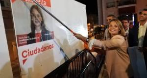 La candidata a la Alcaldía de Marbella por Ciudadanos, María García, en el arranque de la campaña de las municipales de 2019 FOTO/ Ciudadanos