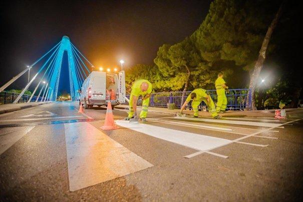 Imagen de los trabajos de adelantamiento. FOTO/ Ayto de Marbella
