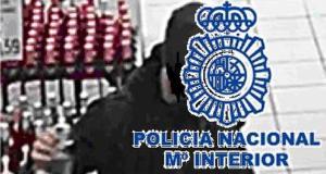 Imagen del ladrón facilitada por la Policía Nacional este jueves