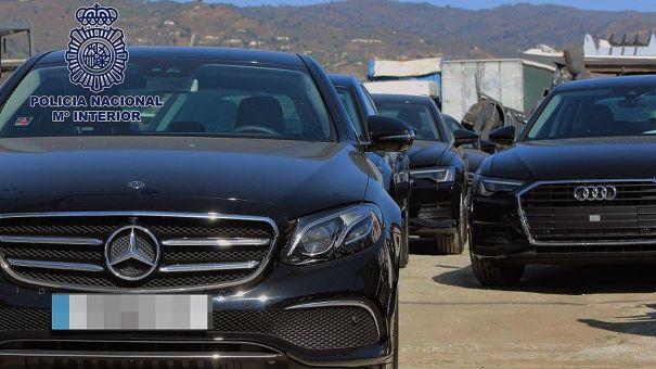 Imagen de archivo de coches de alta gama robados en la Costa del Sol