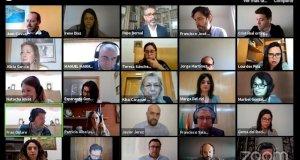 Imagen del pleno telepático de la Diputación de Málaga celebrado este miércoles. FOTO/ Europa Press
