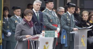 La directora general de la Guardia Civil, María Gámez, el día de su toma de posesión, junto al ministro del Interior, Fernando Grande-Marlaska. FOTO/ Guardia Civil