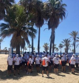 Imagen de los 150 vigilantes que prestarán sus servicios en el municipio de Marbella el día de su presentación. FOTO/ CABANILLAS
