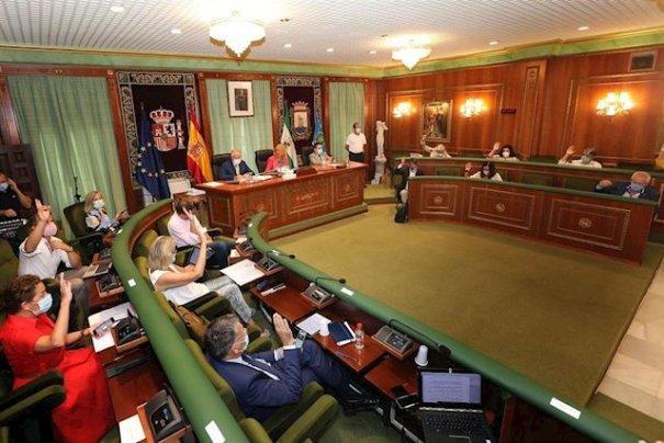 Imagen del pleno celebrado este viernes 31 de julio en Marbella. FOTO/ Ayto de Marbella