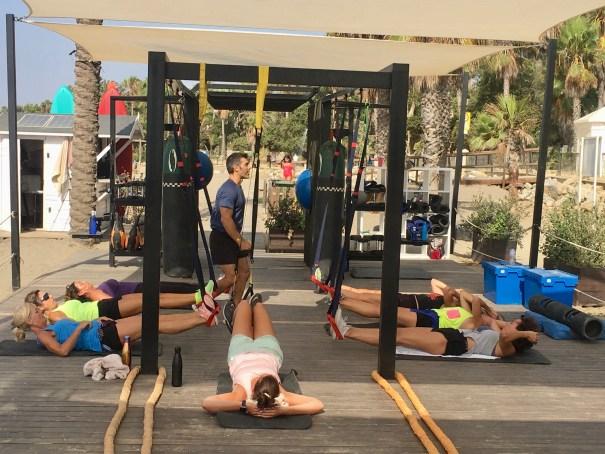 Imagen de una de las clases dirigidas en el Marbella Training Club. FOTO/ CABANILLAS