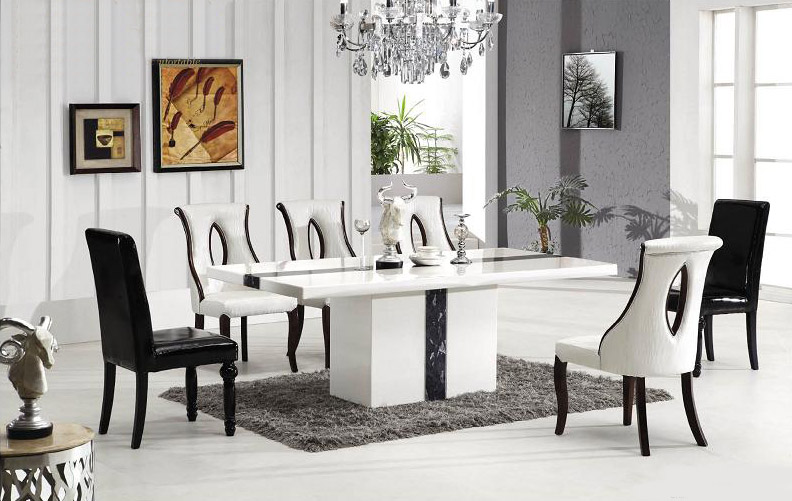 Asti Marble Dining Table With 8 Chairs Marble King