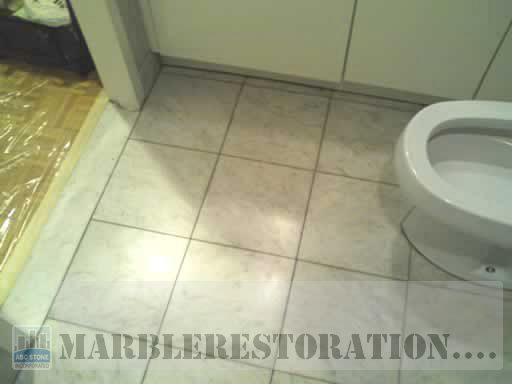Marble Floor In Bathroom Restoration Picture Before