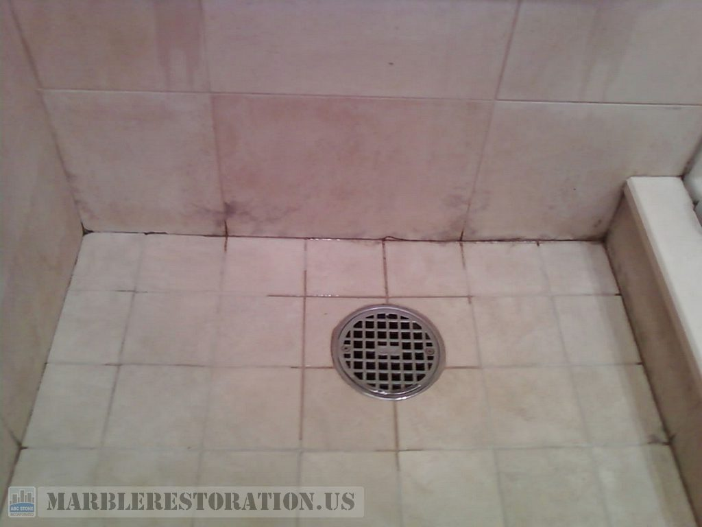 Mold On Marble Tiles In The Shower Cabin Deep Mold Removal