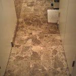 Shabby Shineless Dull Bathroom Tiles Dark Emperador