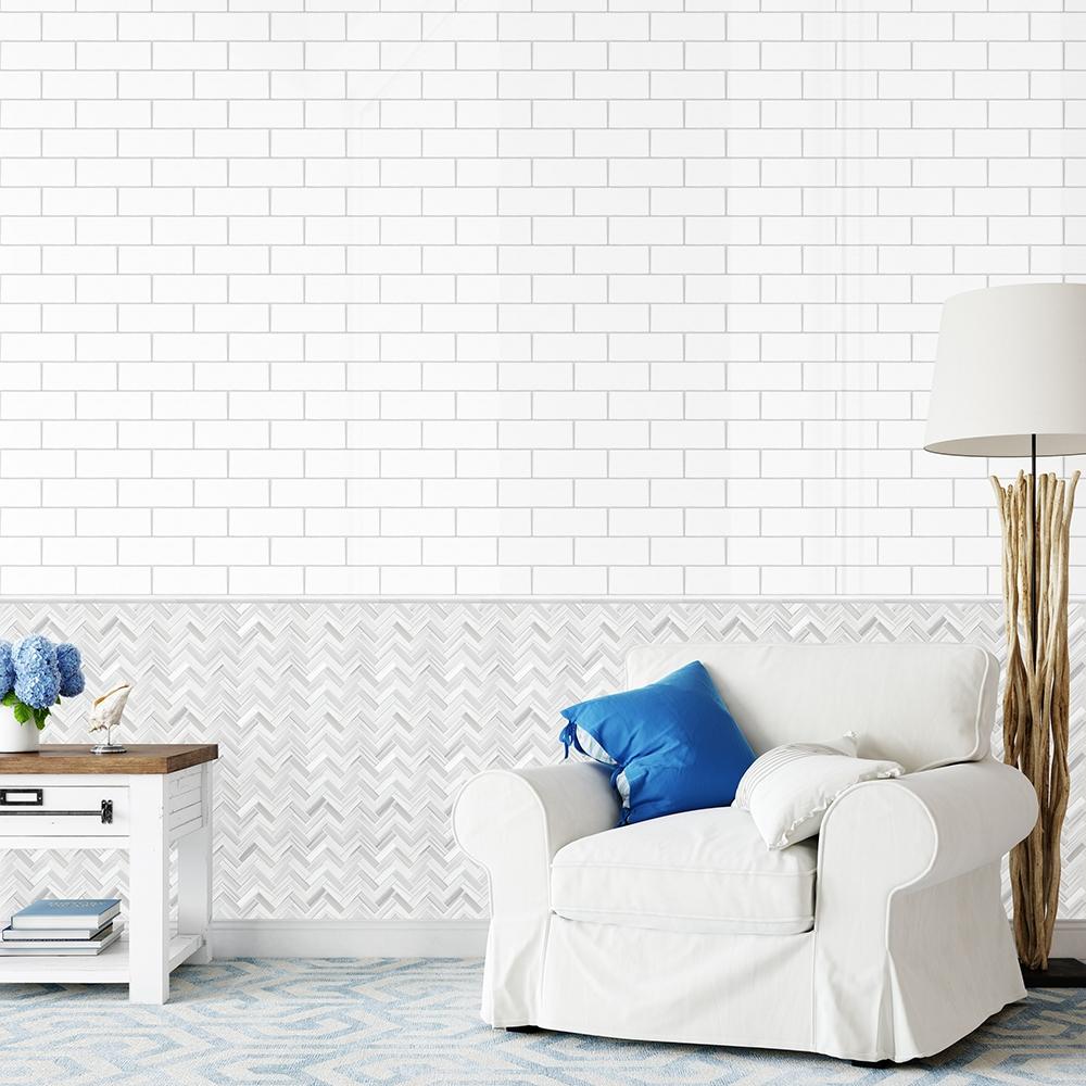 frost white honed herringbone marble mosaics 12 1 8x13 3 8