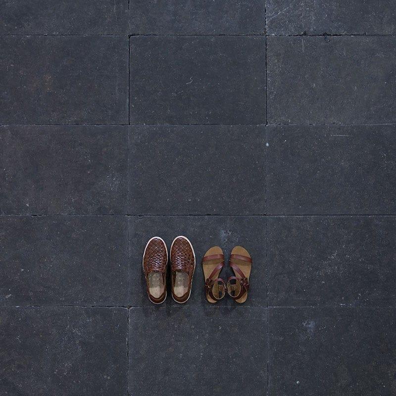 belgian bluestone lappato patinato limestone tiles 16x24