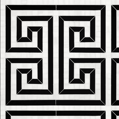white checkered tile marble systems