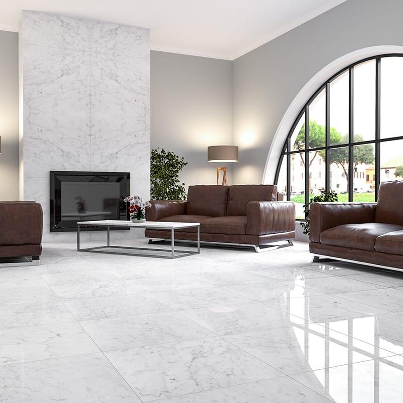 calacatta royal polished marble tiles 24x24