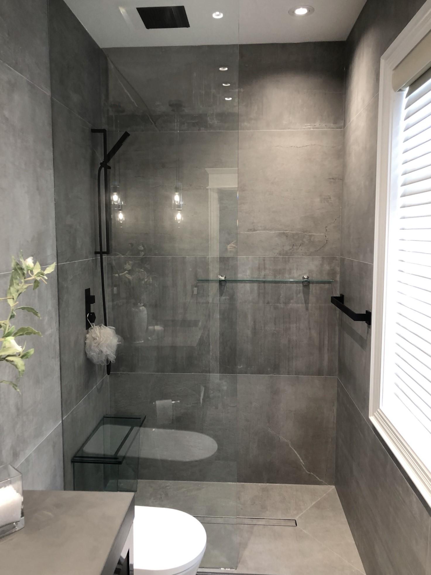 bathroom balux charcoal and stoneone