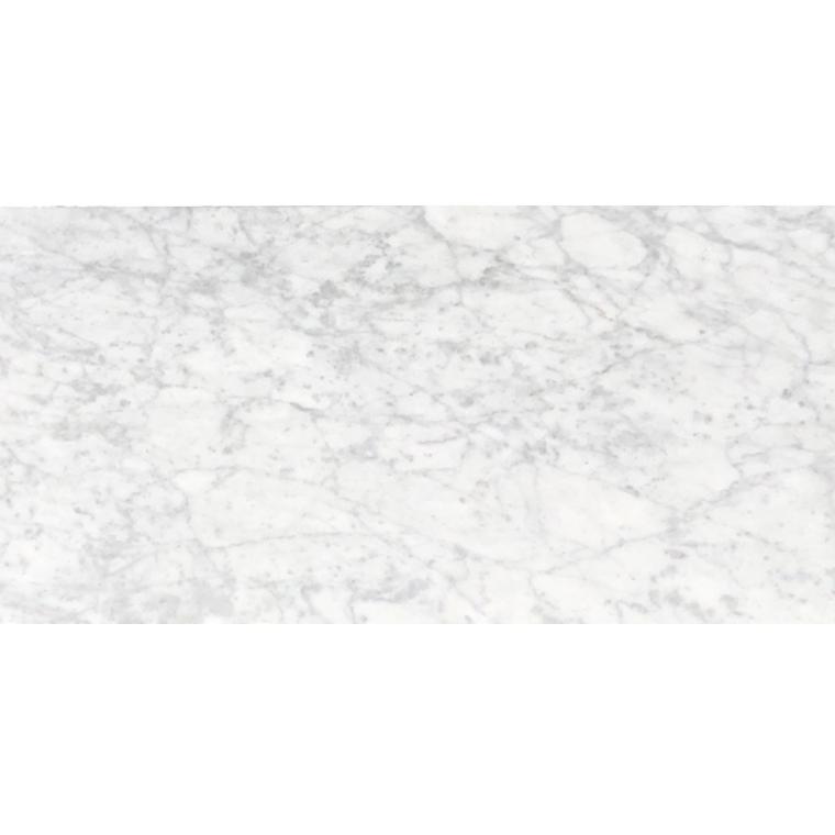white carrara honed marble tile 12x24