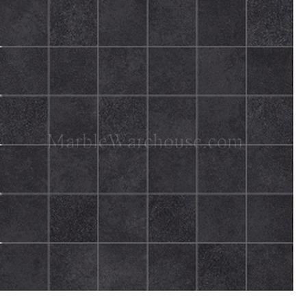 mwp129 graphite black amore 12x12 porcelain mosaic tile 2x2
