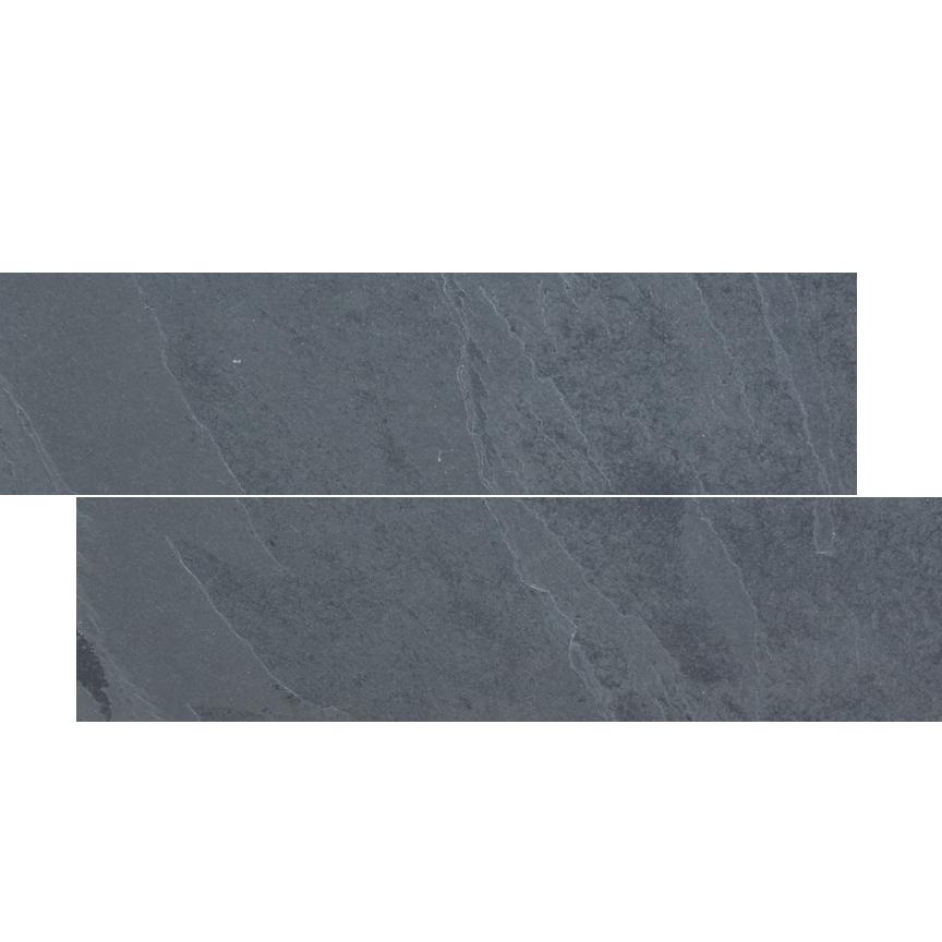 brazilian black montauk black hampshire cleft slate herringbone tile 6x24
