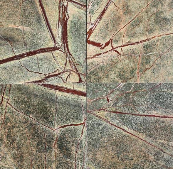 rain forest green marble tile 18x18