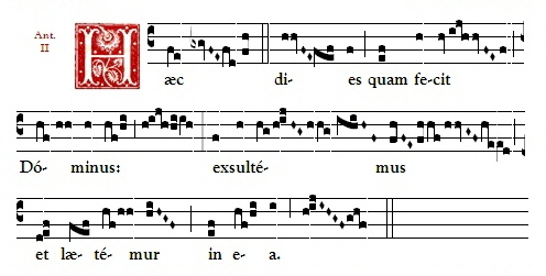 Dominican chant of the Haec Dies, sung during the Easter Octave - This is the day the Lord has made, let us rejoice and be glad in it.