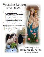 2013 Vocation Retreat Flyer PDF