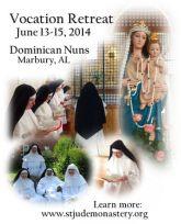 Vocation Discernment Retreat Dominican Nuns Learn More Graphic