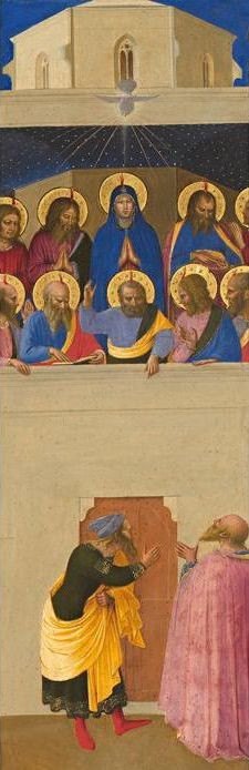 Image of Mary and the Apostles at Pentecost by Fra Angelico