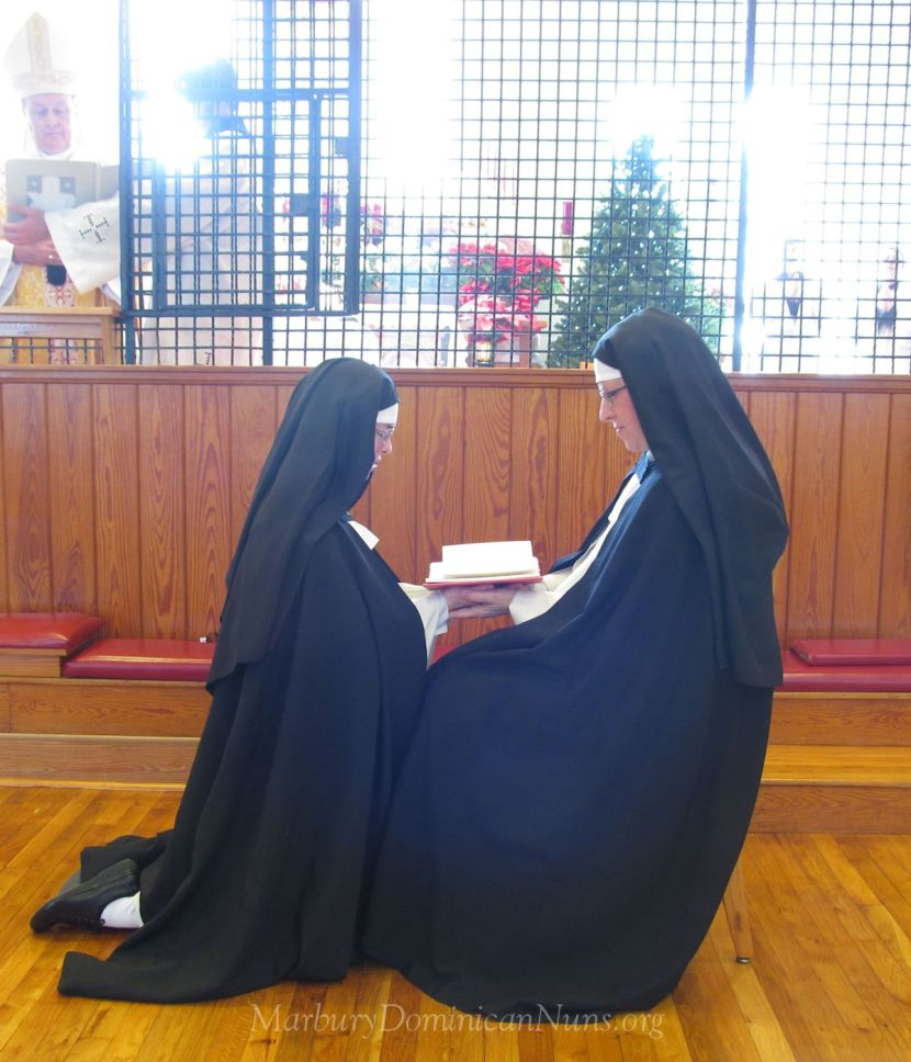 Photo of Dominican nun solemn vows