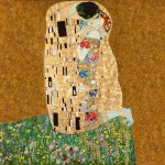 The Kiss (After Gustav Klimt), Oil and Goild Leaf on Canvas, 120cm by 120cm. (2011)