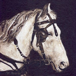 Work Horse, oil on board, 30cm by 30cm, (2011).