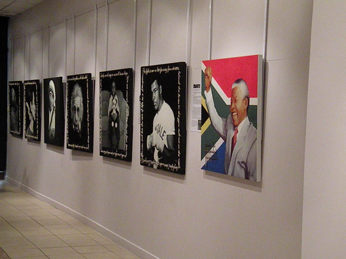 "The Legacy Series and ""Hope for South Africa""  Mandela portrait"