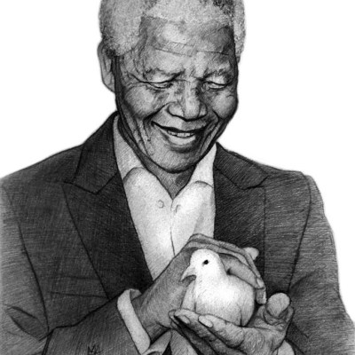 Man of Peace, pencil on paper, 17cm by 14.5cm. (2013)