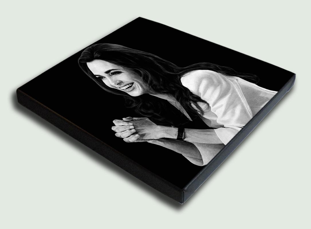 Angelina Jolie Stretched - Limited edition stretched canvas artist prints by South African artist Marc Alexander as part of his 'Legacy' Series.