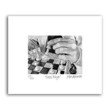 Chess Player – Archival Print Unframed